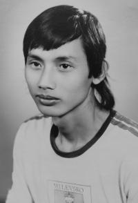 A Vietnamese student Le Van Ty at the vocational school in Horní Heřmanice in 1987