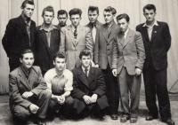 boxing team, J. Zachara in upper line, fourth from left, Sv. Jur 1953/4