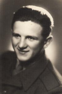 J. Zachara during mandatory military service, 1951