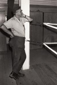 J. Zachara as a boxing trainer, 1965