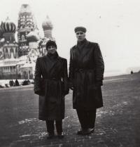 J. Zachara in Moscow, 1955