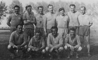 J. Zachara standing third from right, 1953