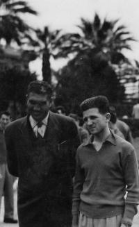 J. Zachara in Egypt with a local police officer, 1952/3
