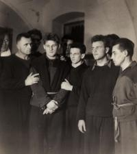 Team The Red star Prague, J. Zachara the smallest in the middle, 1953