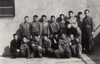 Boxing team ATK Praha, J. Zachara at the right bottom, 1951