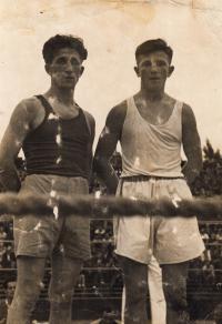 J. Zachara before international contest, 1949