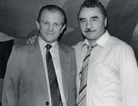 J. Zachara with the olympic winner Ladislav Pap, 1960