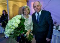 Flowers for Mrs Babušíková as a present for managing European championship