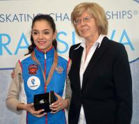 With Jevgenia Medvedevová, World and European champion