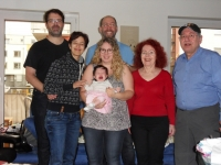Harry Farkaš with his wife, two daughters and their husbands and his granddaughter in 2017