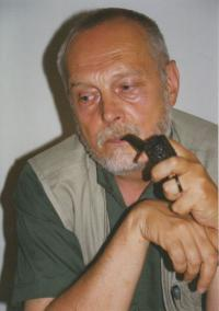 Kamil Kalina with his pipe