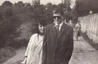 With his wife Lenka