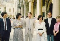 Getting married to Doubravka in Dubrovník 22. 6. 1985