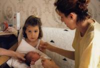 Doubravka with kids (September, 1990 - Sarajevo)