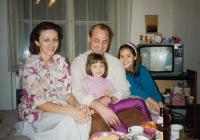Family photo taken in Prague (1994)