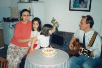 Nina's sixth birthday (Prague, 1996)