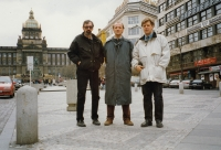The Jaganjac brothers (from the right) with a friend Mirzo (Prague, 1997)