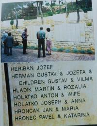 Jad Monument to yours, where the names of Anna and Josef Holátka are also engraved