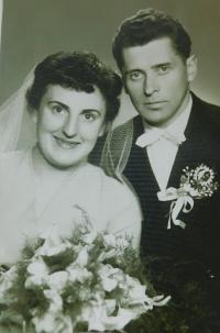 Wedding photos of Anna and Josef Fogl