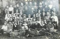 School photo from Volhyně probably Czech Newspaper