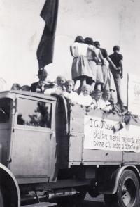 Veřejné cvičení DTJ, 1938, Obřany