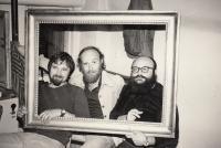 Josef Kovalčuk with the directors Svatopluk Vála and Arnošt Goldflam