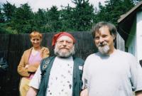 Josef Kovalčuk with Arnošt Goldflam at a cottage