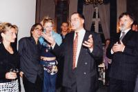 Josef Kovalčuk 1st from the left after a premiere at the National Theater, 1999