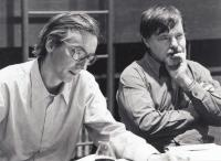 Josef and the director J. A. Pitínský at work in the National Theater