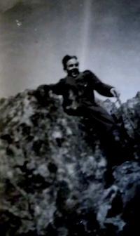 Peter Bedlek - fotografia z čias služby v útvaroch PTP (1952)