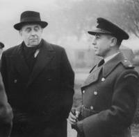 Visit of Jan Masaryk to the 313th Czechoslovak Wing at Churchstanton with Stanislav Rejthar