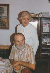 1990 - with his wife