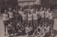 "Jaromir Bilík with friends from the ""sokol"""