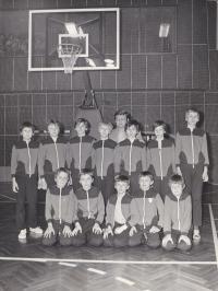 Basketball Team 1980, Daniel Kříž bottom row first from left