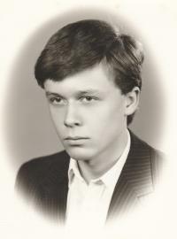 Daniel Kříž on graduation photography, 1986