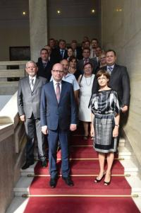 Czech delegation headed with Prime Minister