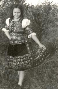 In folk costume from Sása in 1943