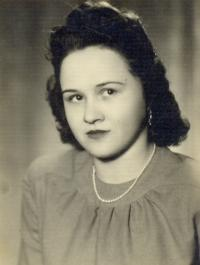 Portrait of Angela Bajnokova in 1949