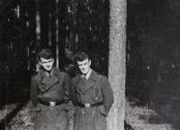 Milan Kroupa (left) in the Auxiliary Technical Battalions