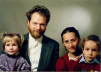 Rastko Kolaček with his family