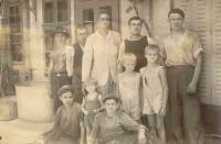 Franja Kolaček with his three sons