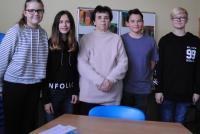 Mrs. Blazickova with students