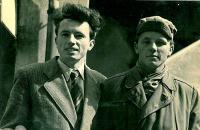 Jaroslav Bílek nalevo, 1956