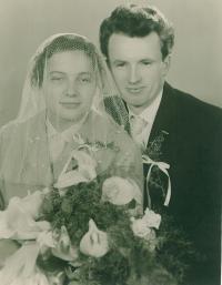 Jaroslav Bílek s manželkou, svatba