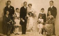 Wedding picture of Jitka's parents Věra Lustigová and Vladimír Jirousek