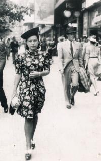 Jitka's mother Věra Jirousková, 1930s