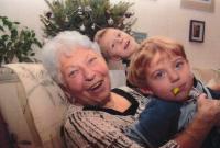 Jitka Růžičková with her great-grandsons, 2010