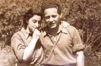 Věra´s twin-sister Eva Hahn (Goldstein) with her second husband David Goldstein, nick named Puco.