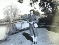 Marie Feuersteinová on trip in Galilee