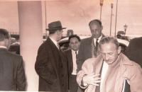 Delegation to Leyland Company to Great Britain. Matti in the middle. Blackpool, Imperial hotel, April 1956